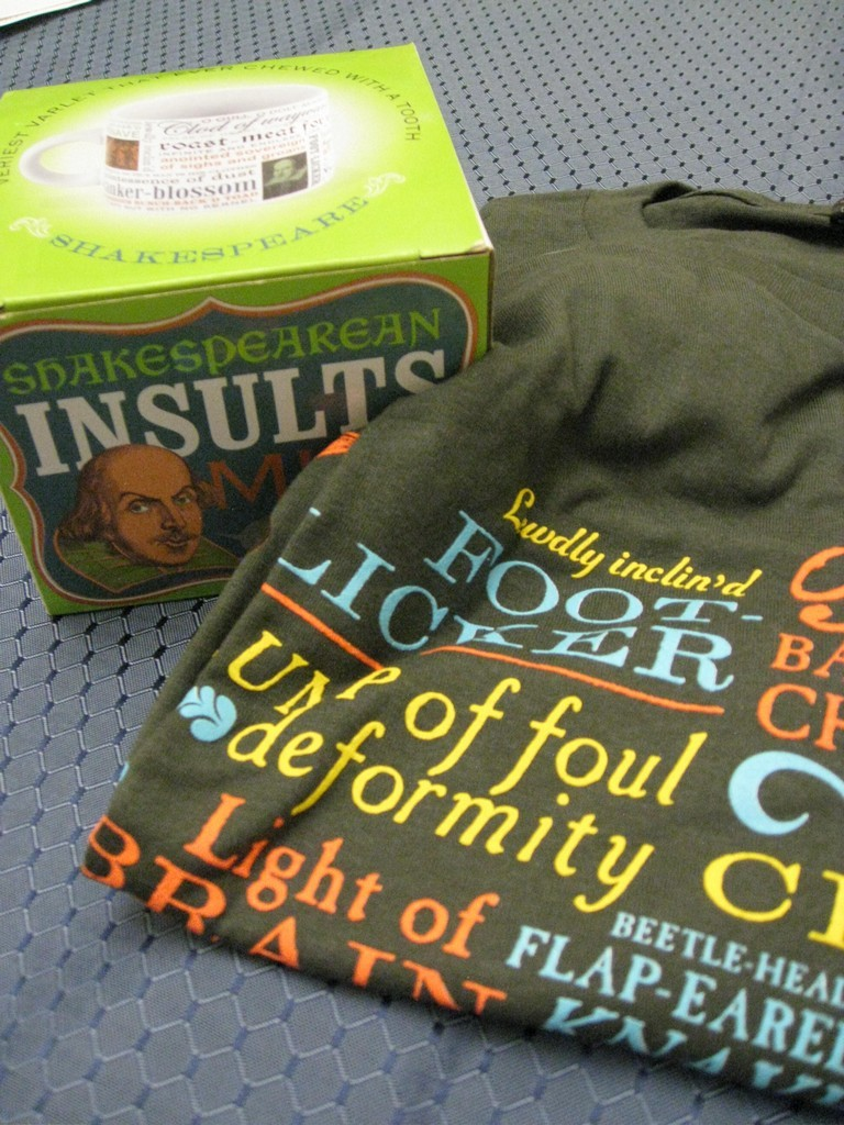 Shakespearean Insult Mug and T-Shirt ($35 Value)